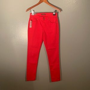 NWT James Jeans red Twiggy Skinny Leggings, 27